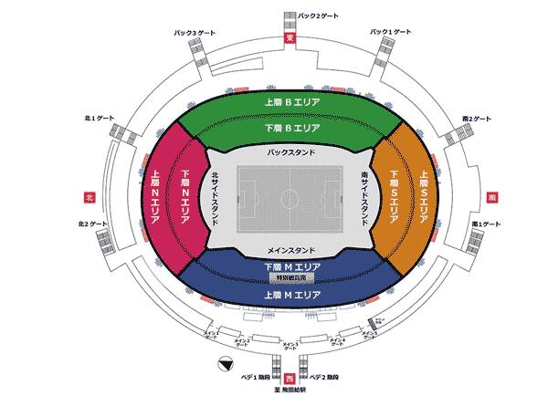 【東京】味の素スタジアムの座席情報