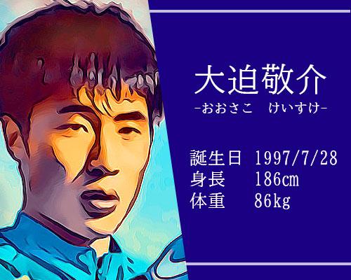 東京オリンピック男子サッカー代表大迫敬介選手