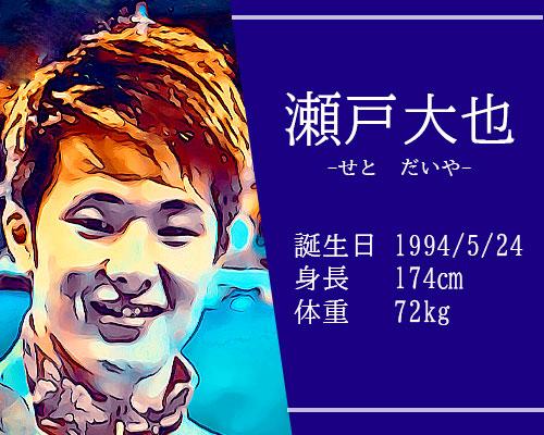 東京オリンピック個人メドレー代表瀬戸大也選手