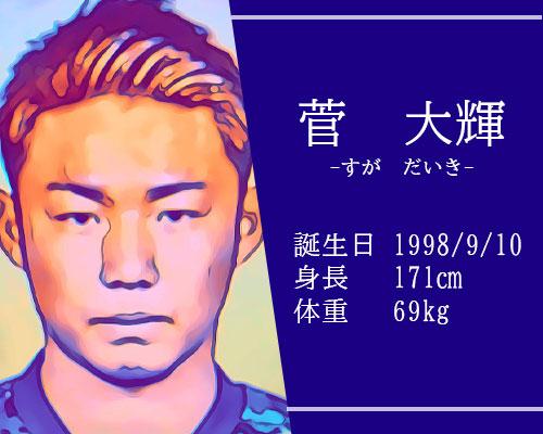 東京オリンピック男子サッカー代表菅大輝選手