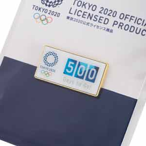 500 Days to Go! ピンバッジ O1061