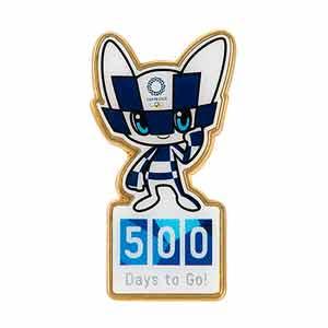 500 Days to Go! ピンバッジ(東京2020オリンピックマスコット)O1062