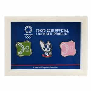 ピンバッジ3個セット フレームつき(東京2020オリンピックマスコット)
