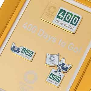 400 Days to Go! 額装ピンバッジセット(東京2020オリンピックマスコット)