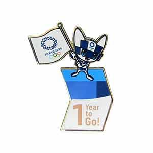 1Year to Go! ピンバッジ(東京2020オリンピックマスコット)藍