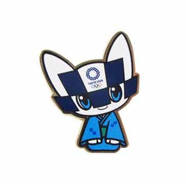 ピンバッジ(東京2020オリンピックマスコット)着物