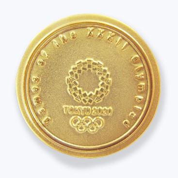 ピンバッジ メダル型