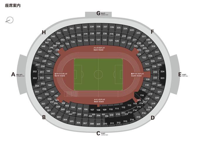 新国立競技場(オリンピックスタジアム)の座席数や収容人数